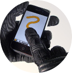 iPhone as Motorcycle GPS - gloves