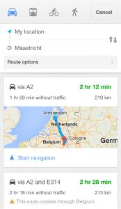 The 13 best Motorcycle Navigation Apps reviewed - googlemapsscreenshot