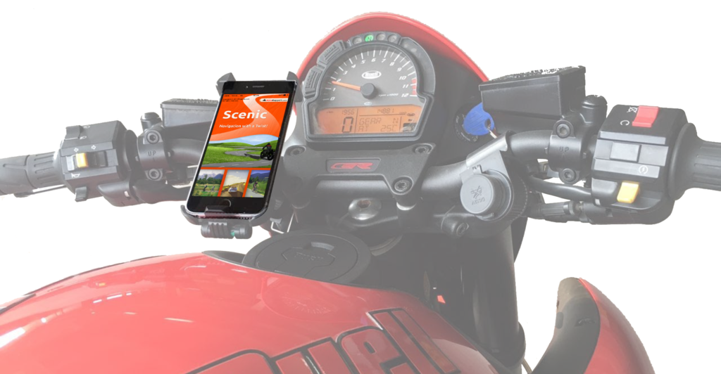 gps motorcycle navigation iPhone on motorcycle
